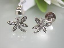 18k white gold dragonfly VS diamond earrings handmade jumbo monster ER backings