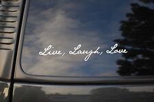 Live Laugh Love Vinyl Sticker Decal Peace Zen Car Yoga Meditation Health V15