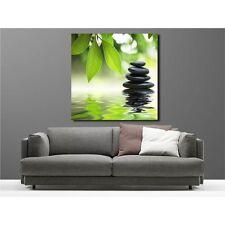 Tableaux toile déco carré galet bambou 32832235
