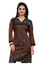 Reino Unido stock-Mujeres Moda Camisa Top Corto india Kurti Kurta Vestido Ecco 5