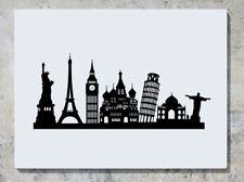 Famous luoghi Statua della Libertà Torre Eiffel Big Ben Adesivo Decalcomania Muro Foto