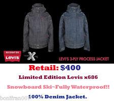 686 Levis Trucker 3-Ply Process Jean TMS Times Denim Ski Snowboard Levi's Jacket