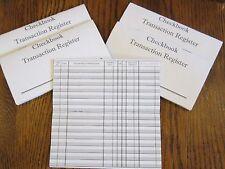 5 NEW CHECKBOOK TRANSACTION REGISTER --CHECK BOOK RECORD REGISTERS