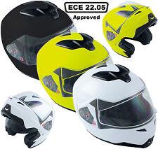 Nuevo Modular Flip parte delantera del casco-Moto Moto Scooter Doble Visera