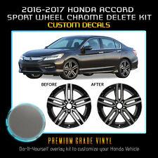 For 2016-2017 Honda Accord Sport Wheel Chrome Delete Kit - Satin Matte Chrome