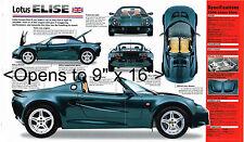 1996 / 1997 LOTUS ELISE SPEC SHEET / Brochure / Pamphlet / Photo's