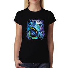 Shark Galaxy Solar System Womens T-shirt XS-3XL