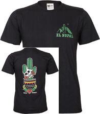 Retro el NOPAL cactus SKULL CACTUS Oldschool Uomo Motivo T-Shirt Rockabilly