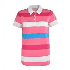 adidas ladies striped polo shirt pink white blue