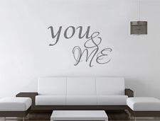 Vous et moi Autocollant Mural Citation | vous et moi Wall Decor | Couples Applique Murale