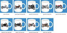 300ml Keramik Becher mit Motiv: Aprilia Motorrad Modelle Kaffee Tasse Pott 11oz