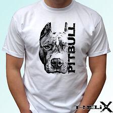 Pitbull Cabeza-Perro T Shirt Pit Bull Top Camiseta de diseño-Para Hombre Para Mujer Niños Bebé