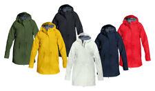 Modas Femmes Manteau de Pluie - Légèrement Cintré - Veste Imperméable Avec