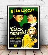 NERO Dragons: VINTAGE FILM POSTER RIPRODUZIONE
