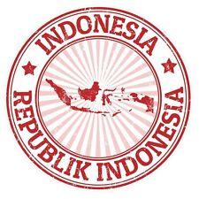 2 x Indonesia Vinyl Sticker Laptop Travel Luggage #4325