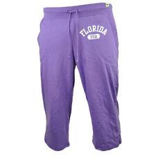 Florida USA Sunshine State Purple Womens Elle Capri Pants Elastic Waist Ladies
