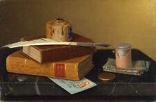 """William Michael Harnett : """"The Banker's Table"""" (1877) — Giclee Fine Art Print"""