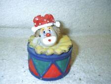 Jester Clown Drum Trinket Box Resin