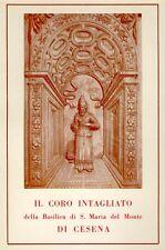 Leandro, Il coro intagliato della Basilica di S. Maria del Monte di Cesena