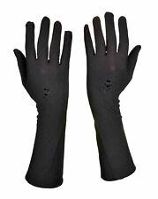 Long Full Finger Gloves Hand Cover Ladies Colour: Beige & Black  Evening Opera