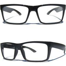 Black Frame Clear Lens Eye Glasses Retro Polite Hipster Rectangular Nerd Smart