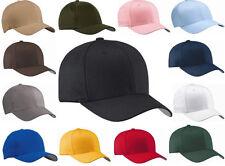 Flexfit Mens V Flex Twill Cap 6-Panel Fitted Hat S/M L/XL  5001