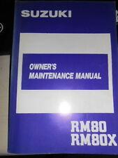 Suzuki Owners Maintenance Manual 1987 RM80 X