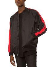 Jaywalker Men's Striped-Sleeve Track Jacket Light Spring Sport Sweater Black New