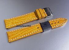 Barington * Hai * Gelb * Haifisch Lederband für Uhren * Uhrenarmband* 18 - 22 mm