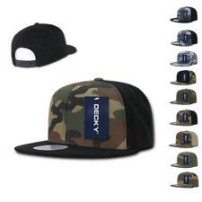 Decky Camouflage Camo Retro Flat Bill Baseball Hats Caps Cotton Snapback
