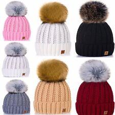 ragazze bambini cappello inverno VERME maglia invernali grande POM LA