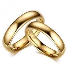 Verlobungsring Hochzeit 999er Gold 24K vergoldet Wolfram Damen Herren R2860S