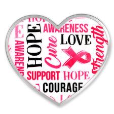PinMart's Breast Cancer Awareness Heart Words Enamel Lapel Pin