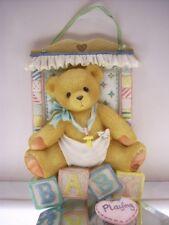Cherished Teddies Baby Block Plaque 203718 Nib * Free Usa Shipping