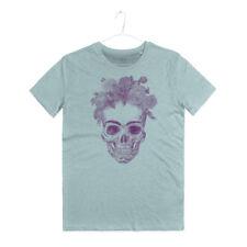 Maglietta Teschio Frida Kahlo Maglia Uomo Art Naif Art Flowers Skull T-Shirt Man