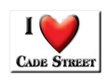 SOUVENIR UK - ENGLAND MAGNET UNITED KINGDOM I LOVE CADE STREET (EAST SUSSEX)