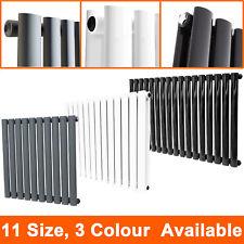 Horizontal Radiator Designer Oval Column Bathroom Heater Central Heating UK
