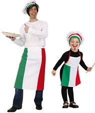 "Kostüm ""Pizzabäcker"" (Schürze,Mütze) Erwachsene Kinder Italien-Flagge Bäcker"
