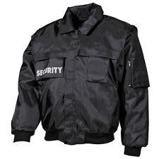 Seguridad Cazadora Negro S-4XL Hombre Chaqueta de 2 en 1 Servicio