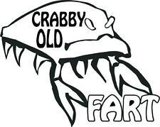 vinyl decal sticker CRABBY OLD FART  crab man fish  1250