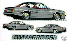 BMW 635 CSi Car Sticker LOT of 5 Sticker Cards NEW