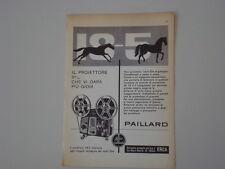 advertising Pubblicità 1960 PROIETTORE BOLEX PAILLARD 18 - 5