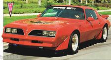 1978 Pontiac TRANS-AM / FIRE-AM 455 SPEC SHEET / Brochure
