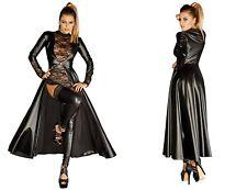 NOIR HANDMADE WETLOOK MANTEL schwarz lack kunstleder jacke clubwear gothic kleid