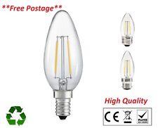 4W LED High Quality Filament Candle Lamps Bulbs  E14 E27 B22 B15 Uk Seller