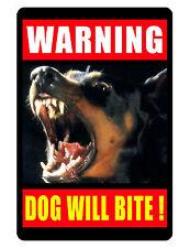 WARNING DOG  Sign Keep Criminals Away... Aluminum ..Custom Sign..High gloss.dog2