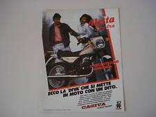 advertising Pubblicità 1984 CAGIVA ALETTA ELECTRA 125