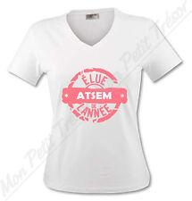 T-shirt Femme Elue ATSEM de l'année - école Maternelle et Primaire - du S au XL