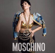 $3,595 AW15 Moschino Couture Jeremy Scott Patch Metallic Leather-Paneled Blazer