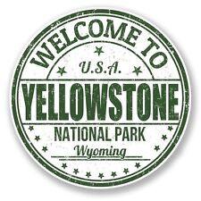 2 x Yellowstone National Park USA Vinyl Sticker Laptop Travel Luggage Car #6782